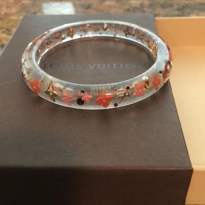 Louis Vuitton authentic LV logo bangle bracelet